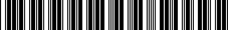 Barcode for 8119333020