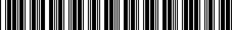 Barcode for 8611047071