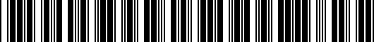 Barcode for 8611047220C0
