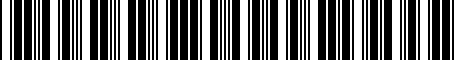 Barcode for 9007599012