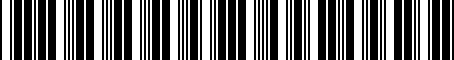 Barcode for 3333132020