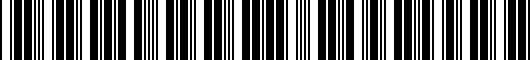 Barcode for 746400C020B0