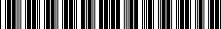 Barcode for 7774033111