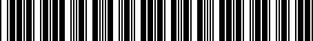 Barcode for 8352055011