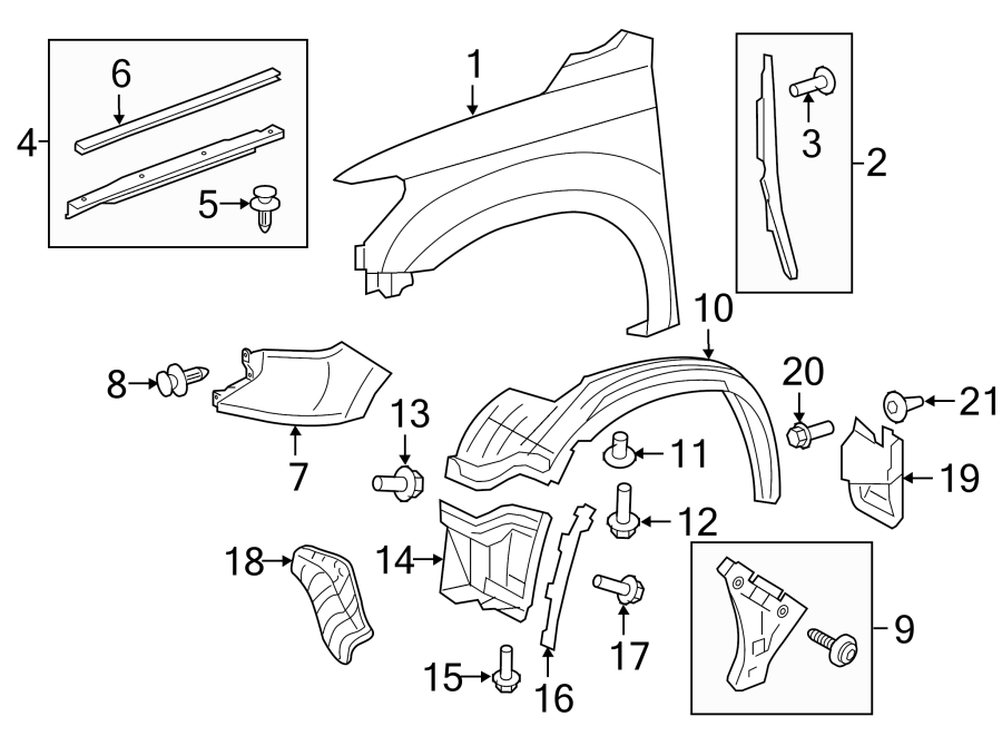Toyota Tundra Fender Extension Panel  Right  Front  Lower