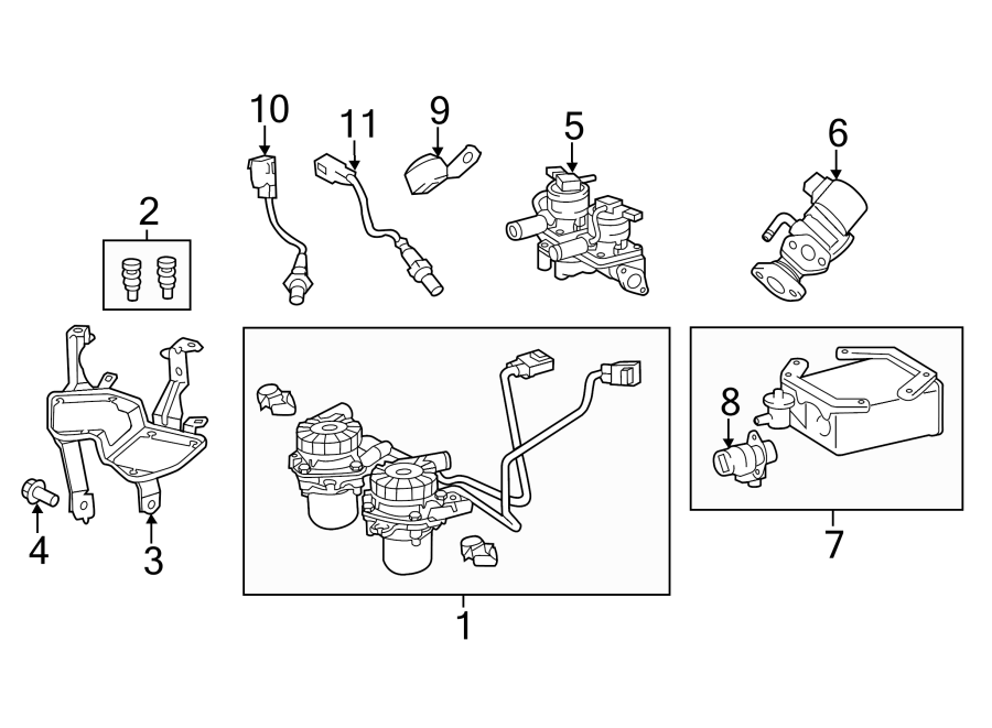 2015 toyota tundra limited diverter valve  secondary air