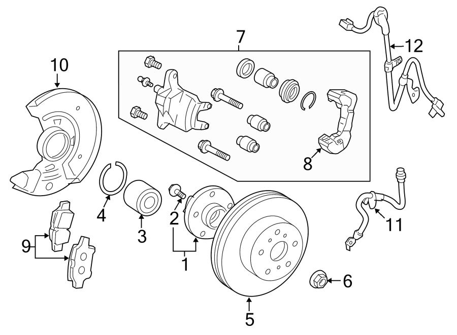 Toyota Yaris Abs Wheel Speed Sensor Wiring Harness