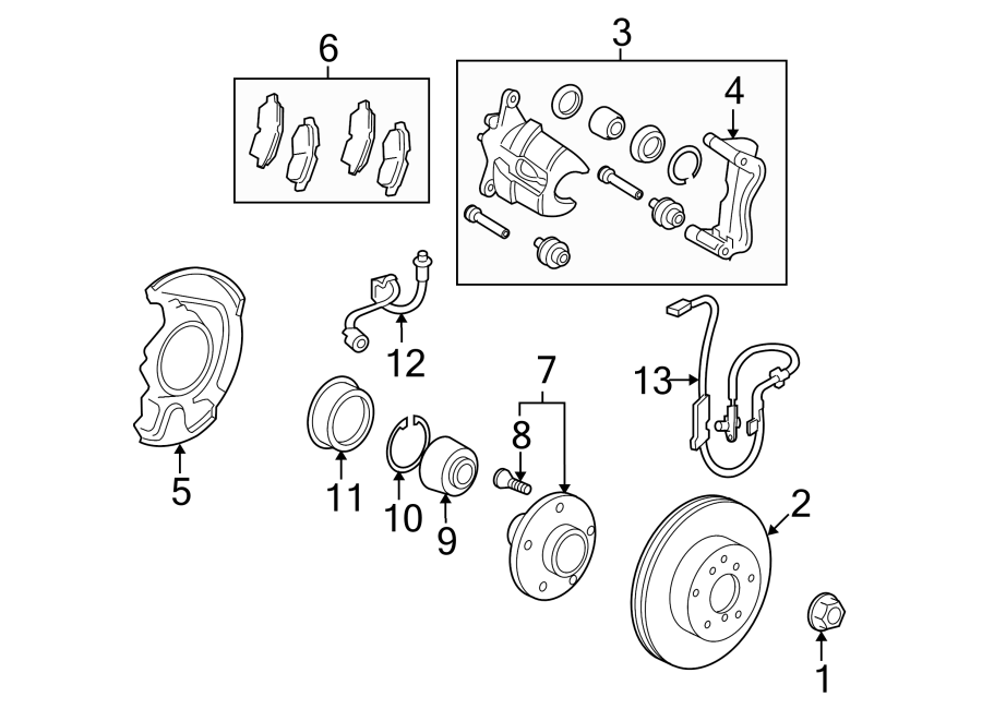 toyota venza abs sensor  abs wheel speed sensor  rear speed sensor