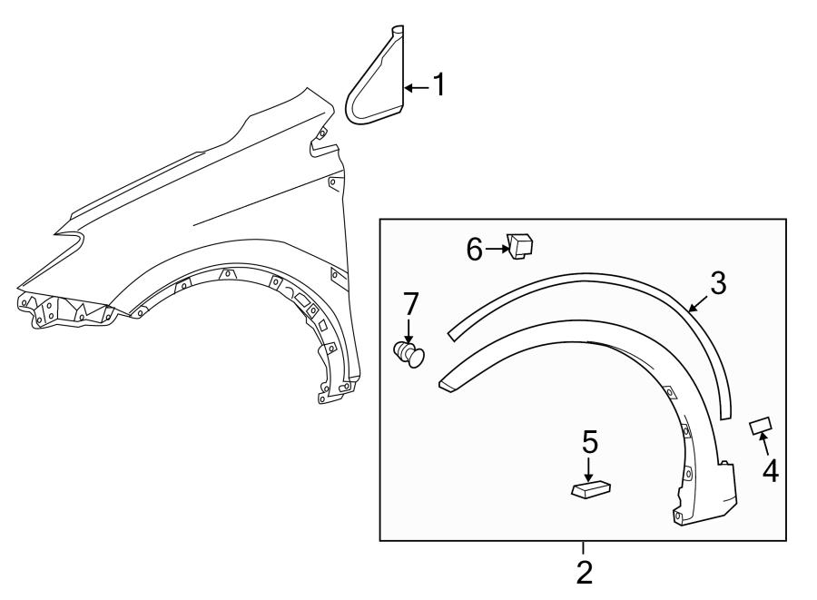 Toyota Rav 4 Clip  Cover  Retainer  Bumper  Trim   Front  Rear  Upper  Lower