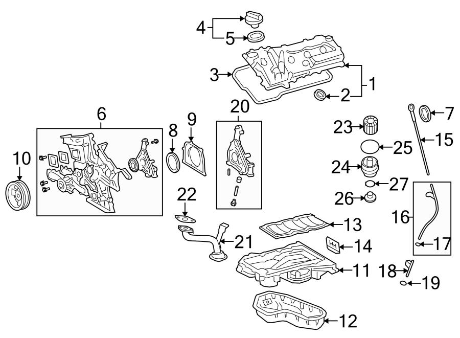 2015 Toyota Highlander Engine Oil Filter Element