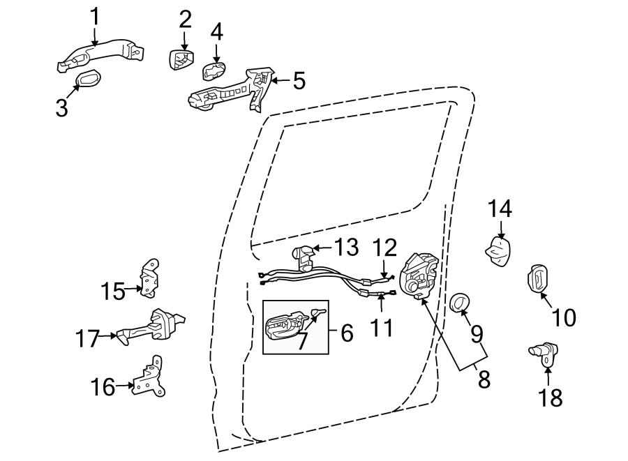6931804010  TOYOTA Seal     door    lock    wiring       harness     seal