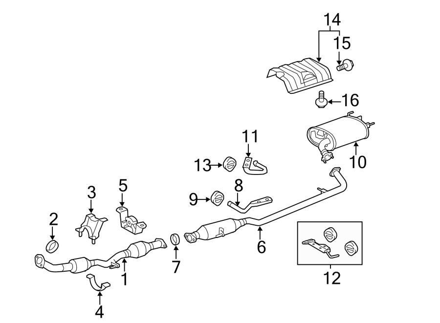 Toyota Camry Pipe  Hanger  Muffler  Bracket  Insulator