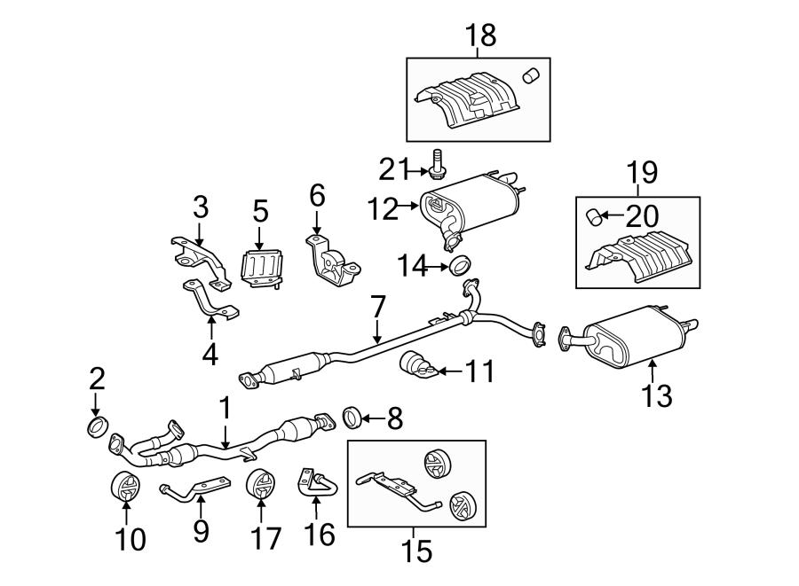 Toyota Camry Pipe  Hanger  Muffler  Insulator  Bracket