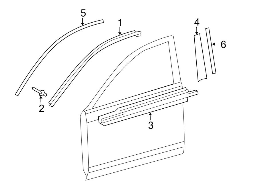 Toyota Camry Door Belt Molding  Front