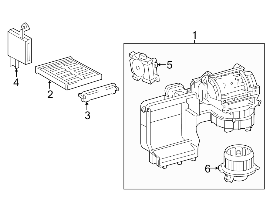 Toyota Camry Hvac Blower Case Assembly