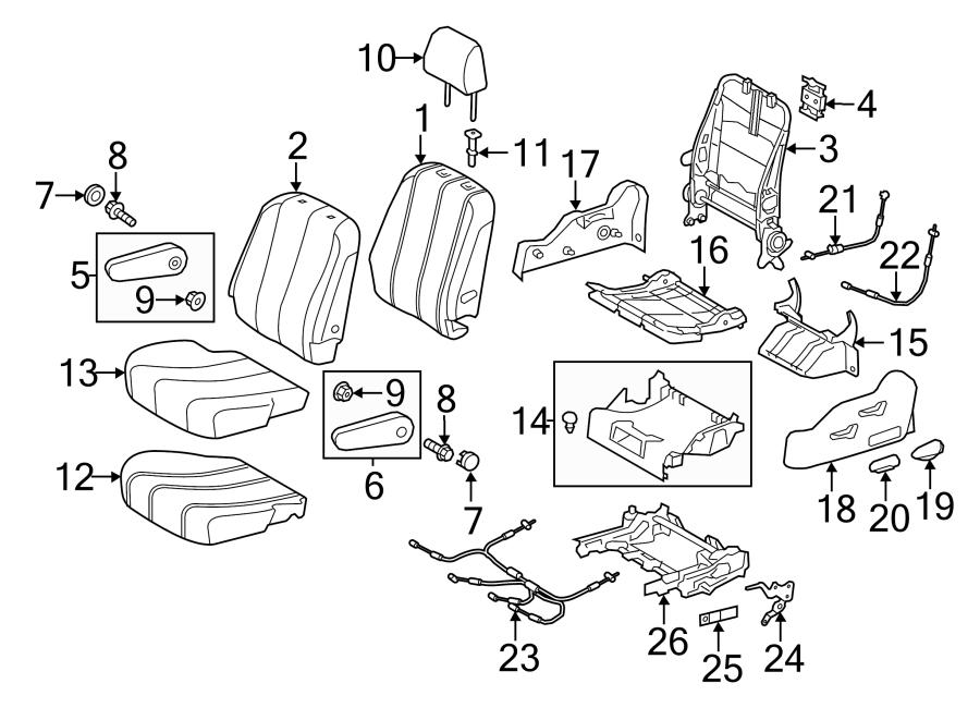 2011 Toyota Sienna Folding Seat Latch Release Handle