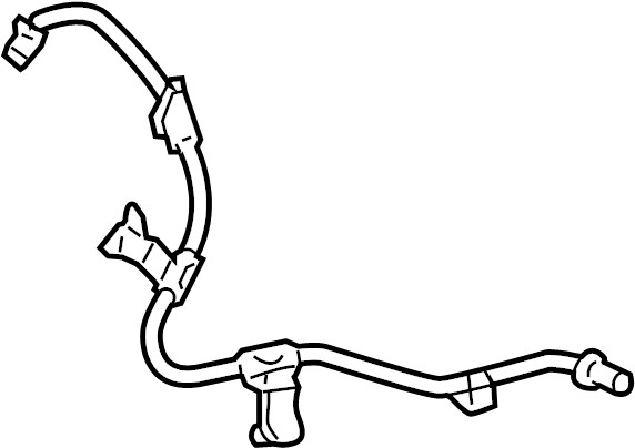 2014 Toyota Prius C Abs Wheel Speed Sensor Wiring Harness