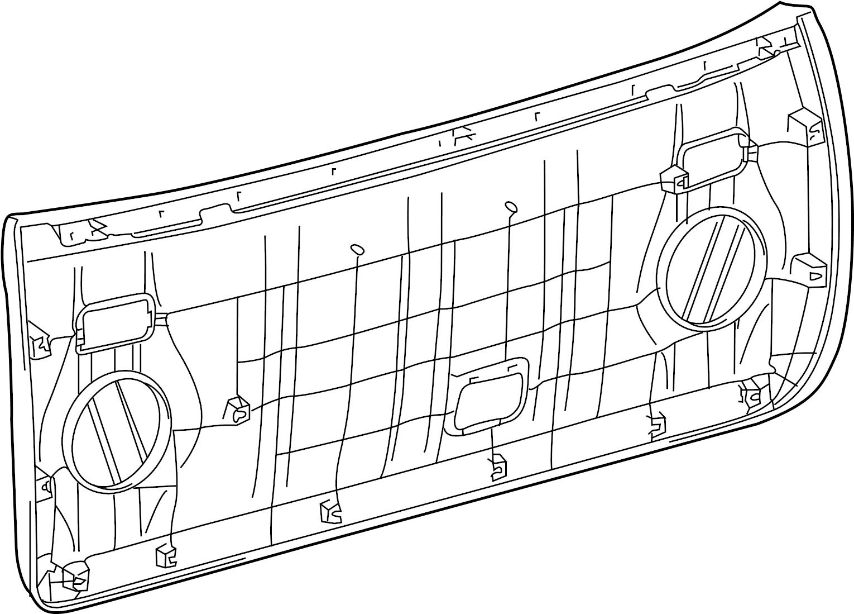 2015 Toyota 4runner Gate Trim Panel Liftgate Trim Cover