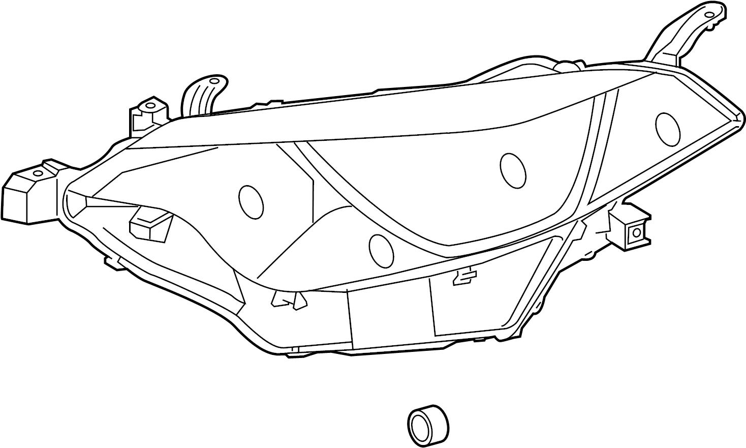 Toyota Corolla Headlight Assembly  Right