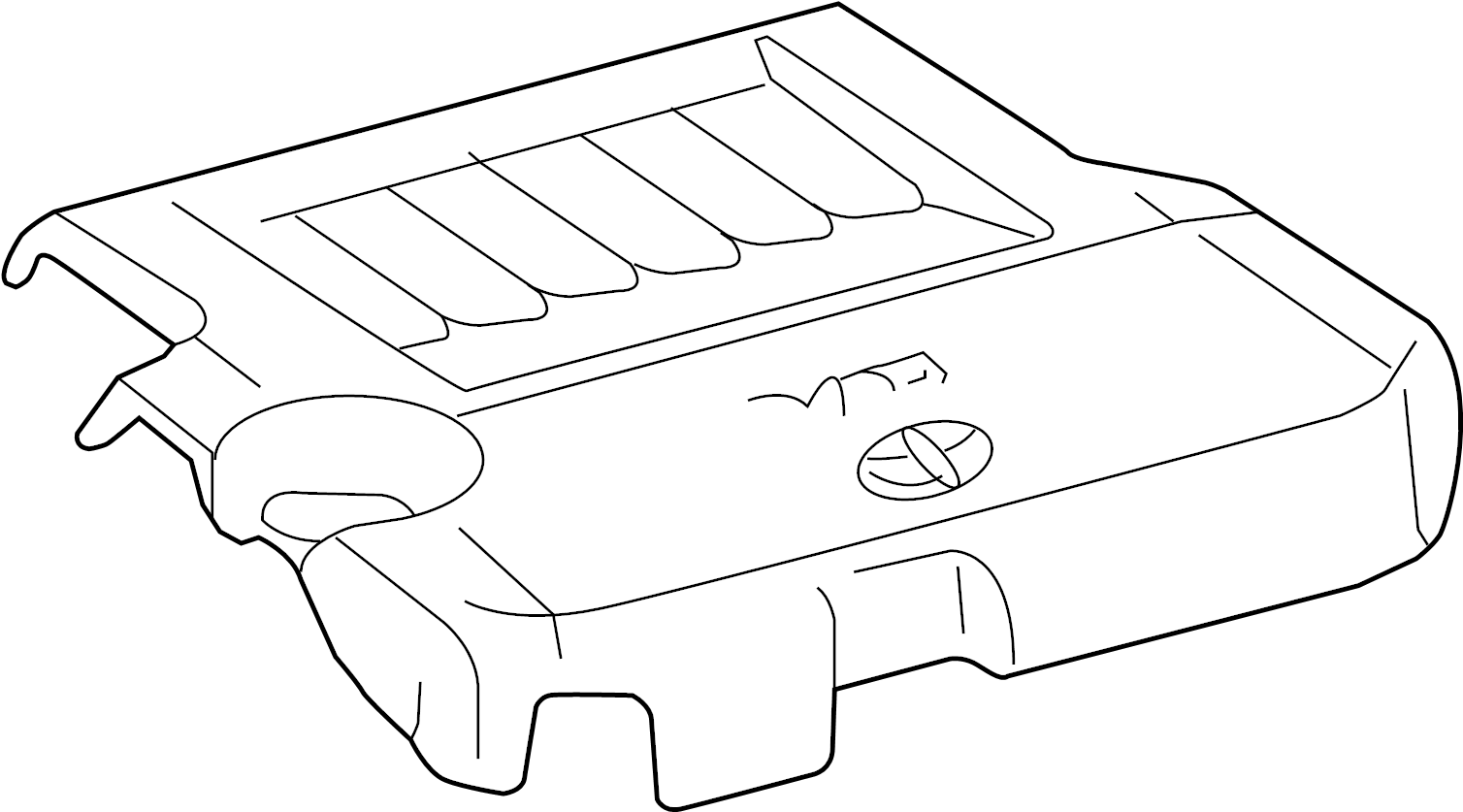 2013 toyota venza engine cover