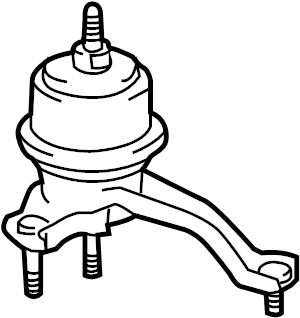 2011 TOYOTA    Insulator        engine    mounting  rh for transverse    engine      123620V010   Toyota Parts