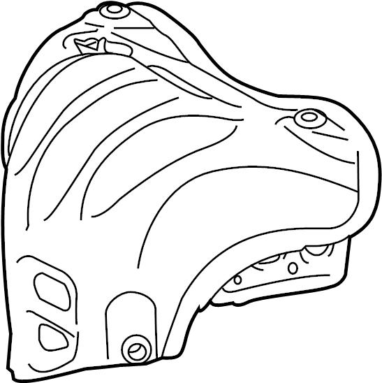 2015 scion exhaust heat shield  exhaust manifold heat