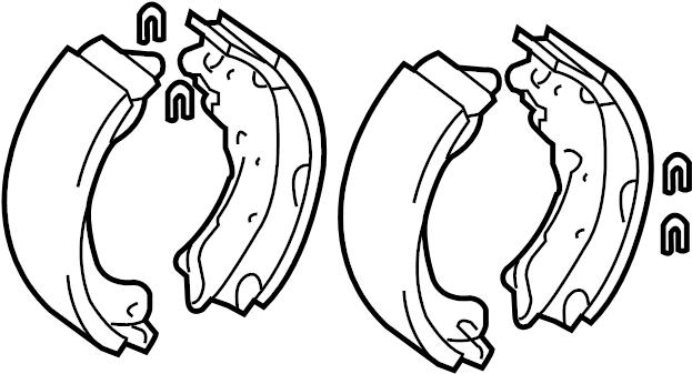 2013 Toyota Drum Brake Shoe  Shoes