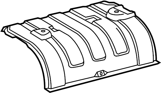 2015 Toyota Camry Floor Pan Heat Shield  Rear   Intermed