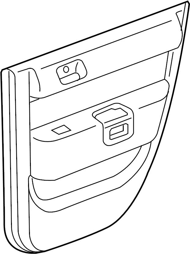 2006 scion xb door panel