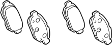 Disc Brake Pad Set (Rear) image