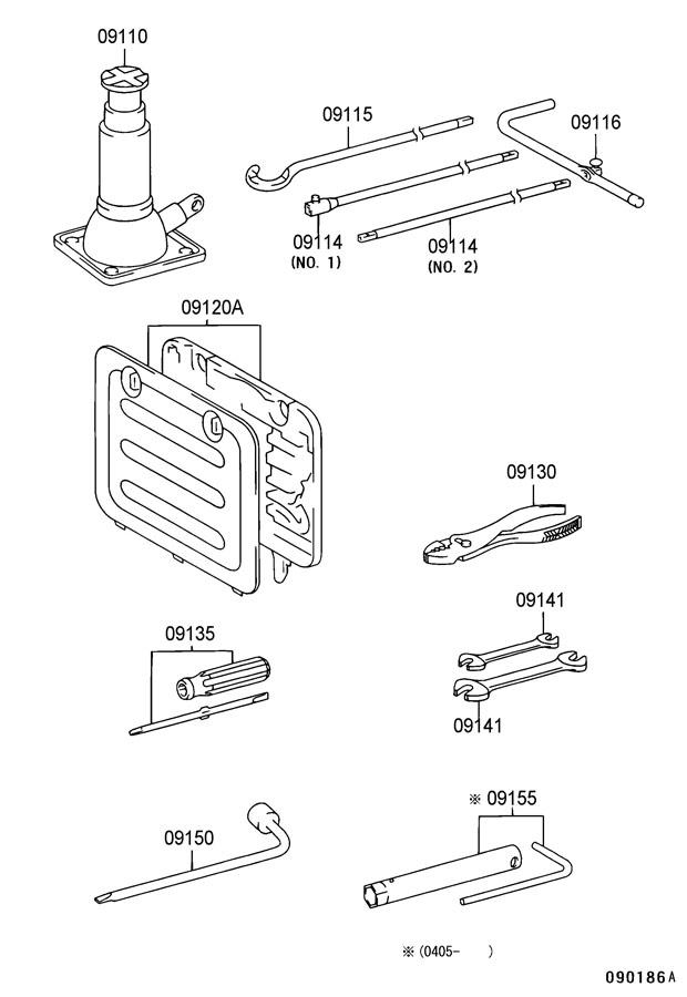 1999 Toyota 4 Runner Parts Diagram