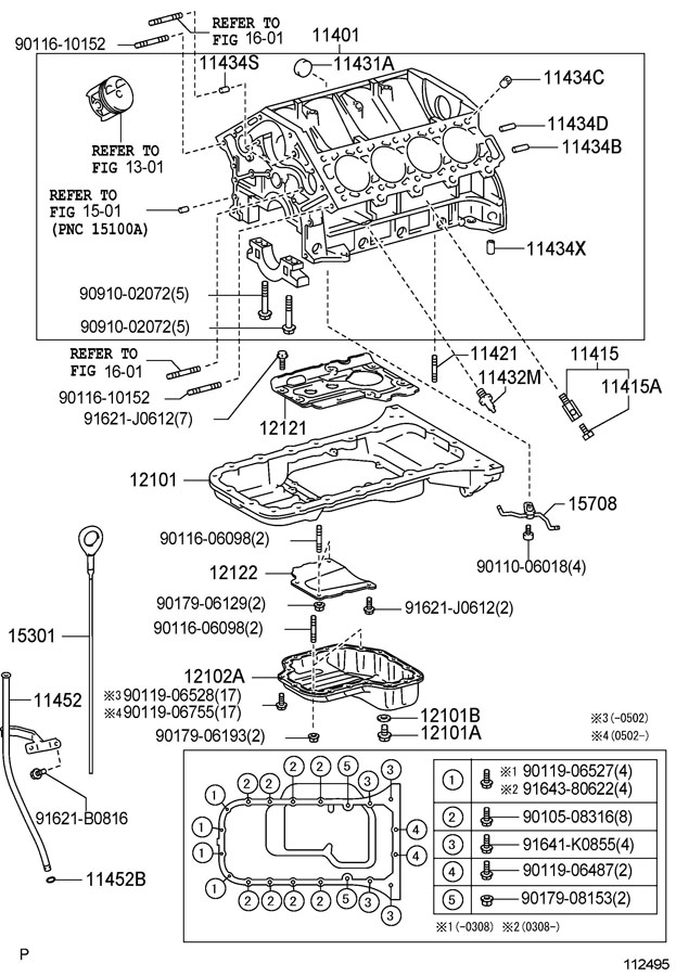 TOYOTA 4RUNNER Block sub-assy, cylinder - 1140139695 ...