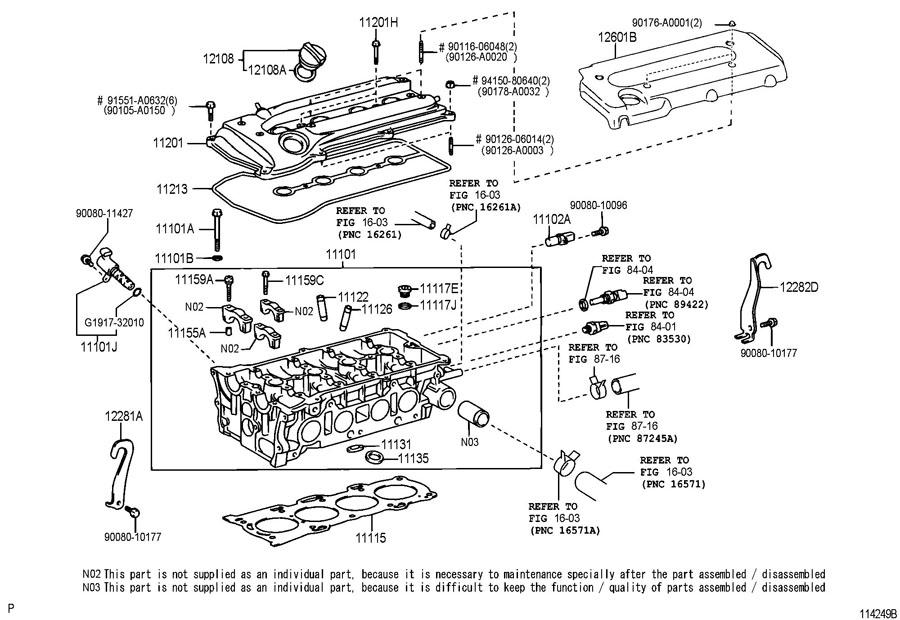 2001 Toyota Cover Sub-assy  Engine  No 1