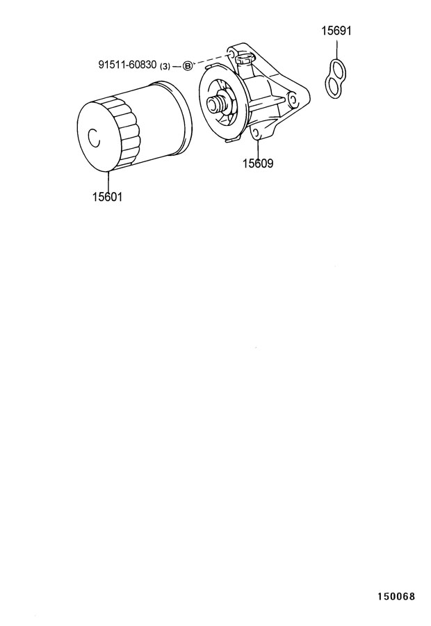 1569276010  TOYOTA Gasket  oil filter Gasket  oil filter