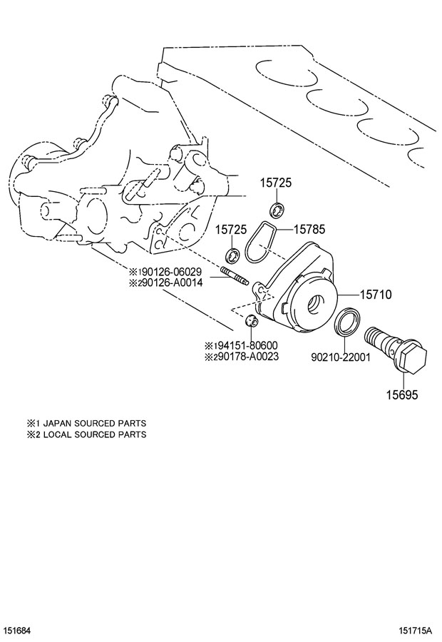 Diagram ENGINE OIL COOLER for your 1991 TOYOTA 4RUNNER TRUCK, STANDARD 3000CC EFI, MANUAL , 5-SPEED