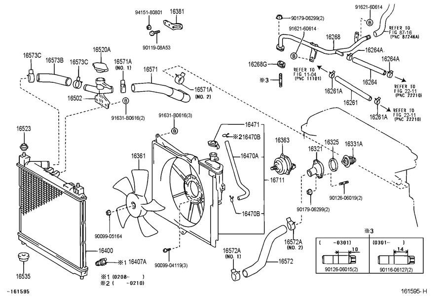 toyota echo engine coolant drain plug