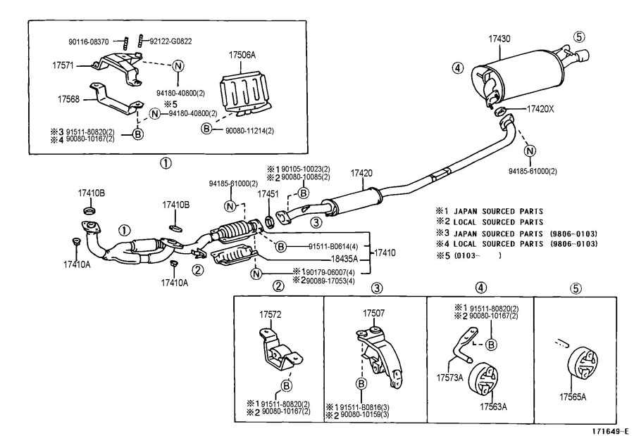 Camry Exhaust System Diagram 28 Images Toyota 2008 2002 Taa 1999 Solara: 1999 Toyota Solara Exhaust System At Woreks.co