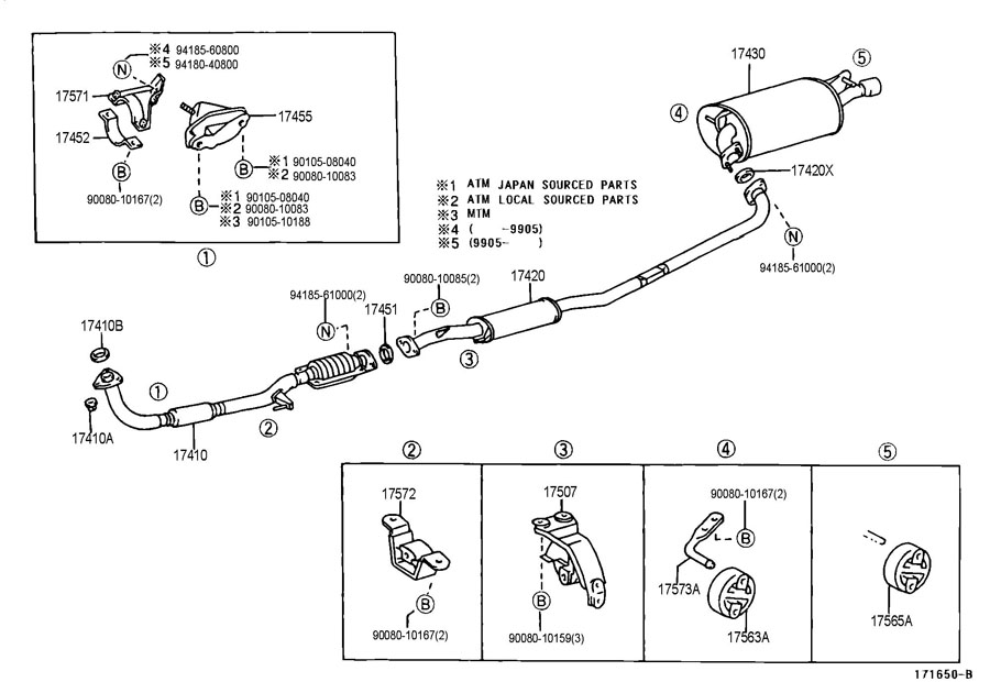 26 2002 Toyota Camry Exhaust System Diagram