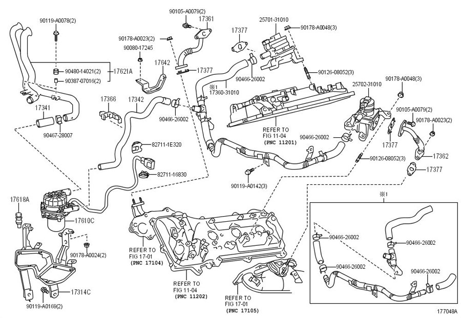 Toyota Tundra Secondary Air Injection Pump Hose  Related
