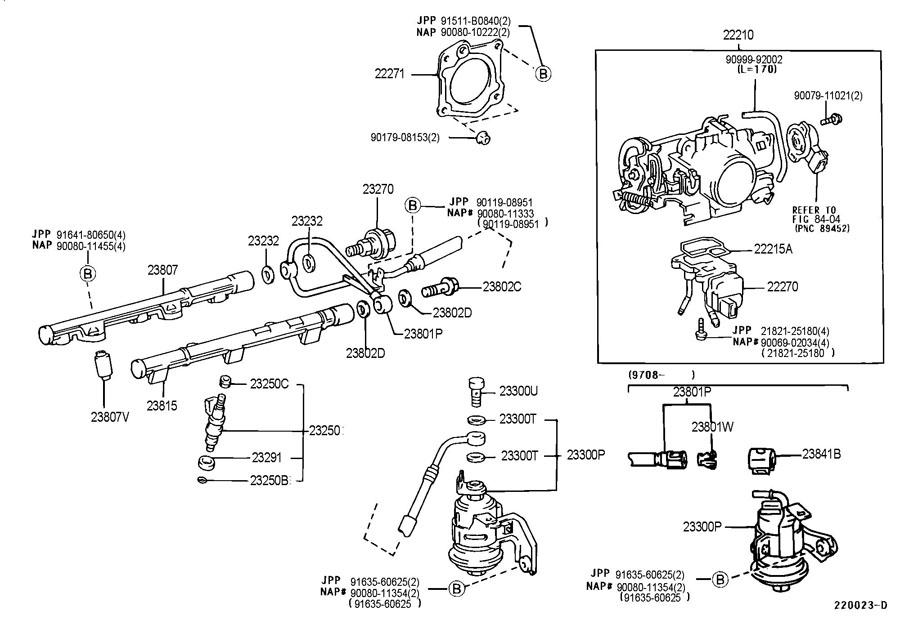 Toyota Camry Body Assy  Throttle   L