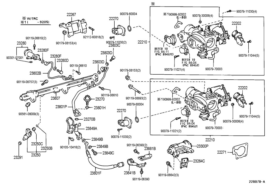 Diagram FUEL INJECTION SYSTEM for your 1991 TOYOTA 4RUNNER TRUCK, STANDARD 3000CC EFI, MANUAL , 5-SPEED