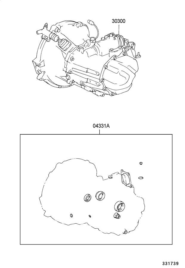 Toyota Matrix Transaxle Assy  Manual  C60