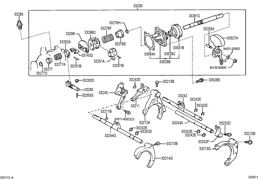 2002 Toyota Rav 4 Cover  Shift Inter Lock Plate