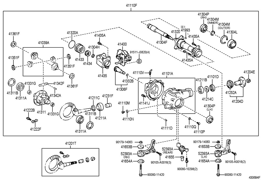 2003 toyota 4runner bumper diagram