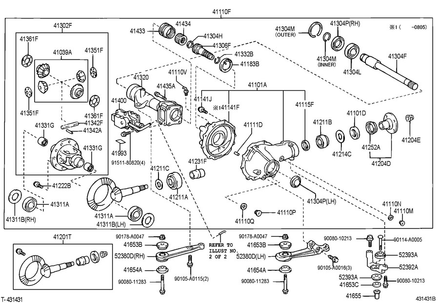 toyota axle diagram freighter axle diagram front axle housing & differential