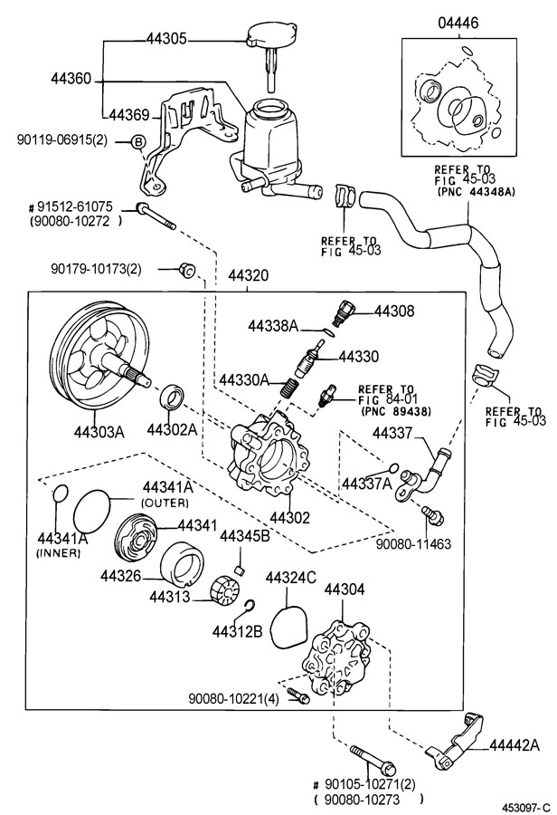 4432502300 - TOYOTA Ring, cam(for vane pump). Mark 4 ...