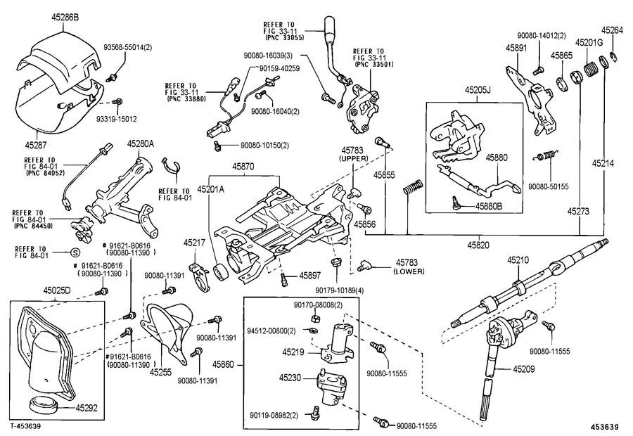 2000    Toyota       tundra       steering    column    diagram