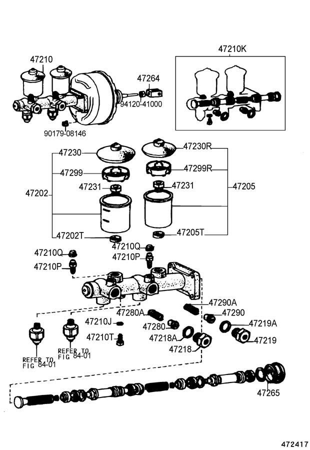 TOYOTA    LAND       CRUISER    Cylinder kit  brake master Piston kit  0449360020   Toyota Parts Overstock