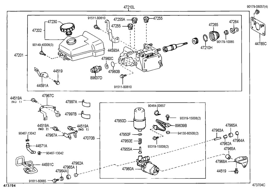Toyota Tundra Washer  Brake Booster Pump