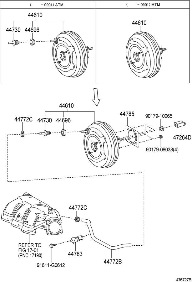 TOYOTA CAMRY Valve assy, vacuum check(for brake ...